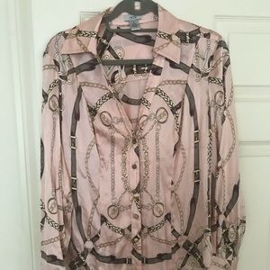 Cache Silk blouse size Large